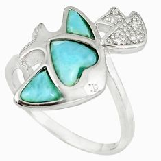 Natural blue larimar topaz 925 sterling silver ring size 9.5 a60701 c15022