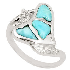 Natural blue larimar topaz 925 sterling silver ring jewelry size 9 a76486 c15101
