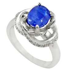 Natural blue sapphire topaz 925 sterling silver ring jewelry size 5.5 c17927