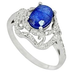 Natural blue sapphire topaz 925 sterling silver ring jewelry size 8 c17993