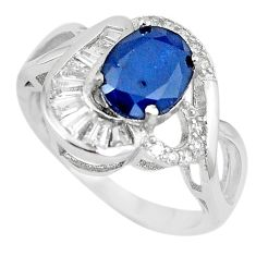 Natural blue sapphire topaz 925 sterling silver ring jewelry size 8 c17921