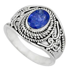 2.11cts natural blue tanzanite 925 silver faceted ring jewelry size 7.5 r60813