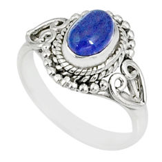 1.47cts natural blue tanzanite 925 silver solitaire ring jewelry size 5.5 r82453