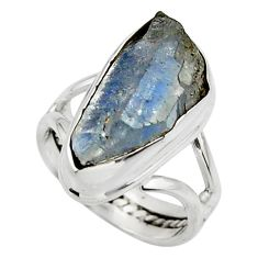7.78cts natural blue tanzanite 925 sterling silver ring jewelry size 4.5 r44712