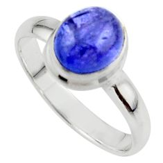 4.05cts natural blue tanzanite 925 sterling silver ring jewelry size 9.5 r46625