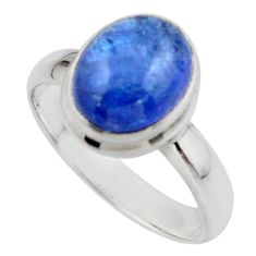 4.08cts natural blue tanzanite 925 sterling silver ring jewelry size 7 r46627