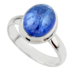 4.14cts natural blue tanzanite 925 sterling silver ring jewelry size 7 r46635