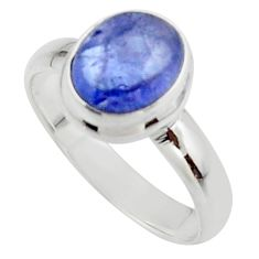 3.46cts natural blue tanzanite 925 sterling silver ring jewelry size 7 r46646