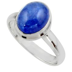 4.10cts natural blue tanzanite 925 sterling silver ring jewelry size 8 r46631