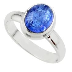 3.04cts natural blue tanzanite 925 sterling silver ring jewelry size 8 r46642