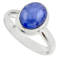 4.13cts natural blue tanzanite 925 sterling silver ring jewelry size 8 r46645