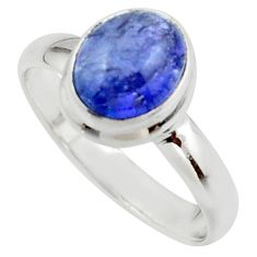 3.01cts natural blue tanzanite 925 sterling silver ring jewelry size 8 r46660