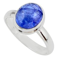 3.98cts natural blue tanzanite 925 sterling silver ring jewelry size 9 r46650