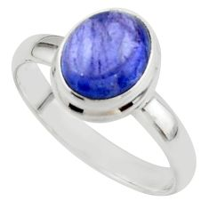4.05cts natural blue tanzanite 925 sterling silver ring jewelry size 9 r46651