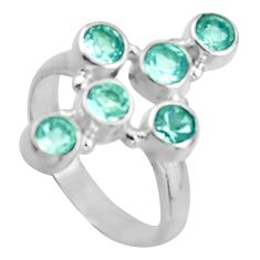 2.69cts natural blue topaz 925 silver holy cross ring jewelry size 7 d46557