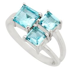 3.10cts natural blue topaz 925 sterling silver ring jewelry size 8.5 d46403