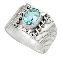 2.12cts natural blue topaz 925 sterling silver ring jewelry size 8.5 r44281