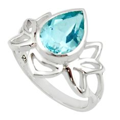 3.04cts natural blue topaz 925 sterling silver ring jewelry size 6.5 r45715