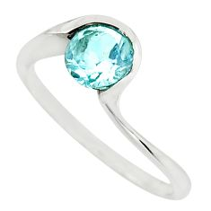 1.16cts natural blue topaz 925 sterling silver ring jewelry size 6.5 r45793