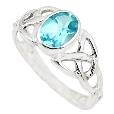 1.46cts natural blue topaz 925 sterling silver ring jewelry size 6 r45756
