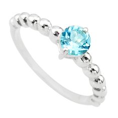 0.92cts natural blue topaz 925 sterling silver ring jewelry size 6 t36466