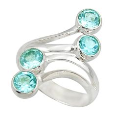 3.52cts natural blue topaz 925 sterling silver ring jewelry size 7 d47496
