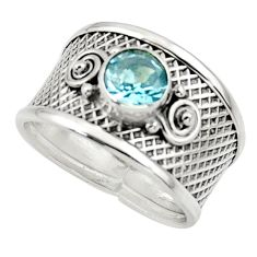 2.30cts natural blue topaz 925 sterling silver ring jewelry size 7 r44282