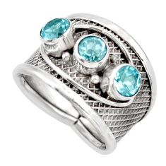 2.41cts natural blue topaz 925 sterling silver ring jewelry size 8 d45928