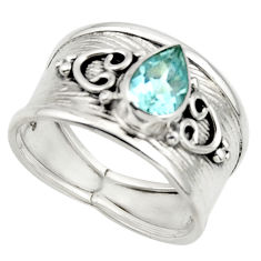 2.12cts natural blue topaz 925 sterling silver ring jewelry size 8 r44284