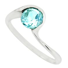 1.21cts natural blue topaz 925 sterling silver ring jewelry size 8 r45795