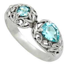 2.51cts natural blue topaz 925 sterling silver ring jewelry size 9 r40893