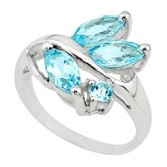 4.82cts natural blue topaz 925 sterling silver ring jewelry size 6.5 t10506