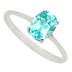 2.05cts natural blue topaz 925 sterling silver solitaire ring size 8.5 r25968