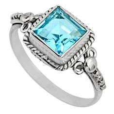 2.28cts natural blue topaz 925 sterling silver solitaire ring size 8.5 r64892