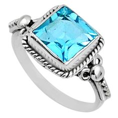 3.44cts natural blue topaz 925 sterling silver solitaire ring size 7 r64909