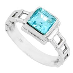 1.21cts natural blue topaz 925 sterling silver solitaire ring size 7 r68726