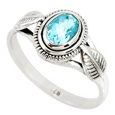 1.51cts natural blue topaz 925 sterling silver solitaire ring size 8 r85519