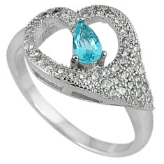 2.62cts natural blue topaz topaz 925 sterling silver ring size 5.5 c23715