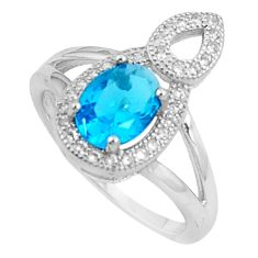 3.03cts natural blue topaz white topaz 925 silver ring size 6 a94769 c24882