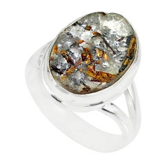 7.50cts natural bronze astrophyllite 925 silver solitaire ring size 6 r85908