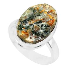 7.17cts natural bronze astrophyllite 925 silver solitaire ring size 6 r85921
