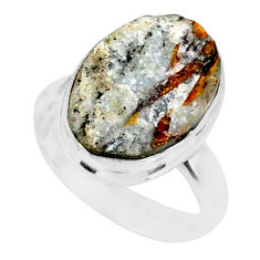 7.04cts natural bronze astrophyllite 925 silver solitaire ring size 6 r85936