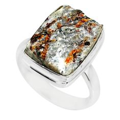 10.73cts natural bronze astrophyllite 925 silver solitaire ring size 8 r85939