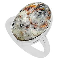 9.23cts natural bronze astrophyllite 925 silver solitaire ring size 8 r96066