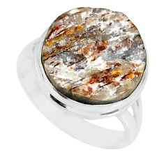 13.70cts natural bronze astrophyllite 925 silver solitaire ring size 9 r85927