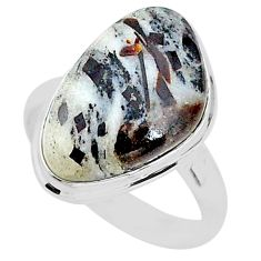 14.65cts natural bronze astrophyllite 925 silver solitaire ring size 9 r96051