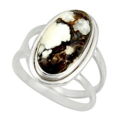 6.97cts natural bronze wild horse magnesite 925 silver ring size 8.5 r42226