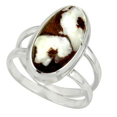 6.99cts natural bronze wild horse magnesite 925 silver ring size 7.5 r42229