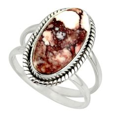 6.68cts natural bronze wild horse magnesite 925 silver ring size 8.5 r42232