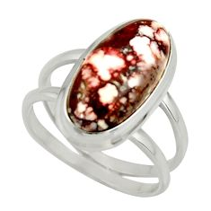 6.68cts natural bronze wild horse magnesite 925 silver ring size 8.5 r42236